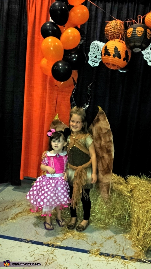 Posing with a friend., Young Maleficent Costume