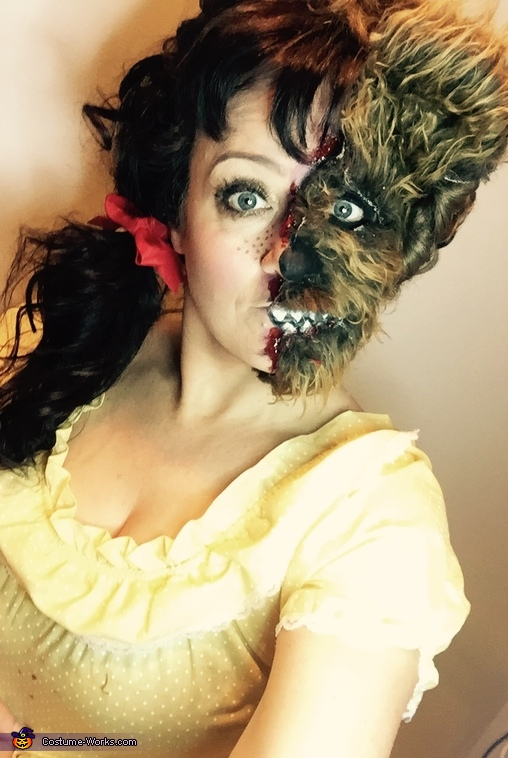 Close up of makeup and liquid latex, Possessed Little Girl Costume