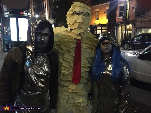 Out and avout, Post-It Man Costume