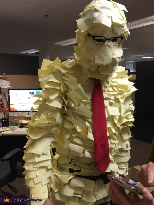 At work, Post-It Man Costume