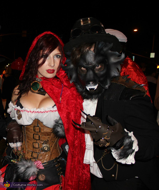 Post Apocalyptic Red Riding Hood and The Wolf Costume