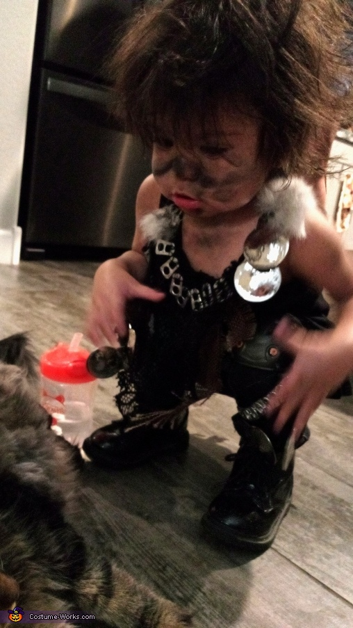 Amara (13 months), Post Apocalyptic Wasteland Warriors Costume