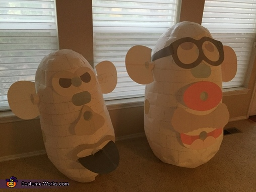Adult and Kid Prototypes, Mr. Potato Head Family Costume