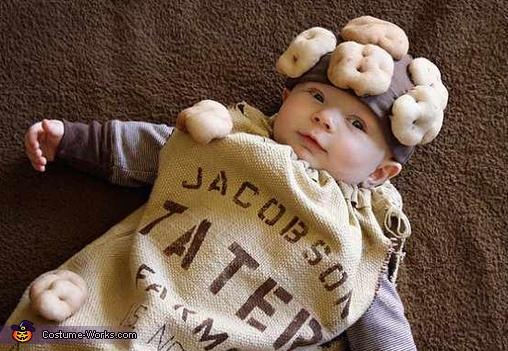 DIY Potato Sack Costume for Babies