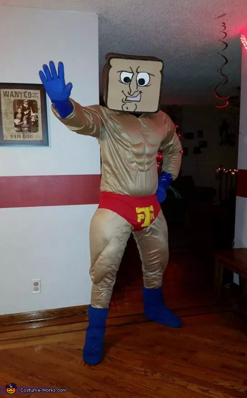 Powdered Toast Man Costume