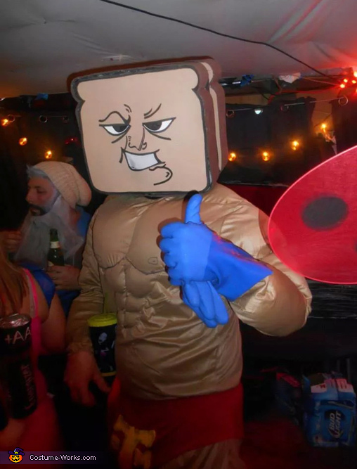 second face, Powdered Toast Man Costume