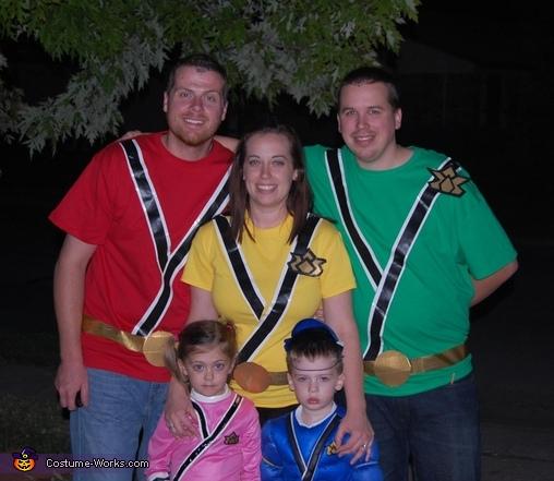 Power Rangers Family Costume