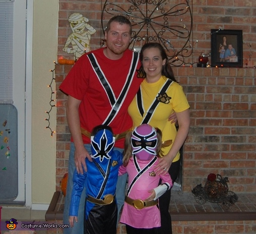 Family of 4 Power Rangers, Power Rangers Family Costume