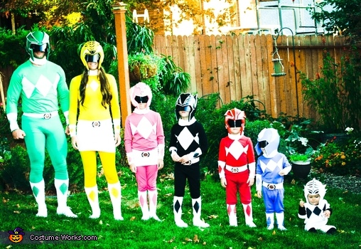 DIY Power Ranger Costumes for the Whole Family!