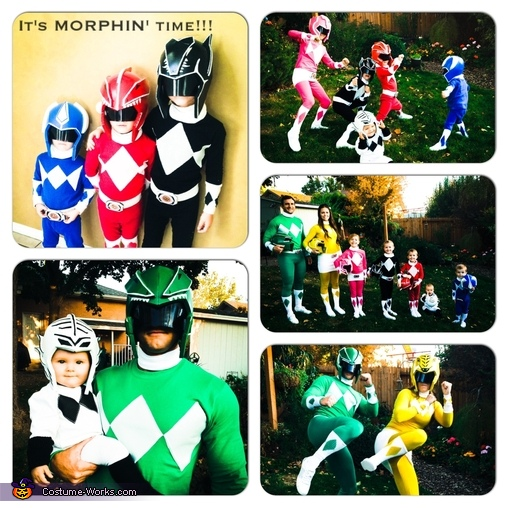 Morphin Time!, DIY Power Ranger Costumes for the Whole Family!