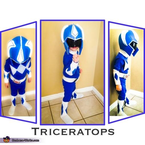 Blue Power Ranger, DIY Power Ranger Costumes for the Whole Family!