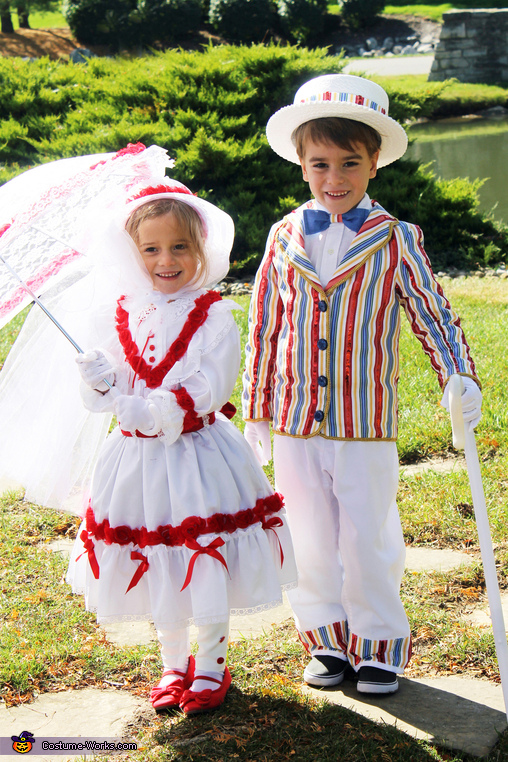 'Fantasy' Mary Poppins & Bert, Practically Perfect in Every Way! Family Costume