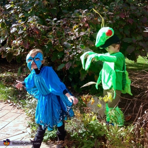 Preying on a butterfly passing by, Praying Mantis Costume