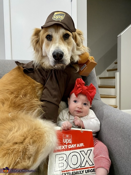 Precious Package and Her Delivery Boy Homemade Costume