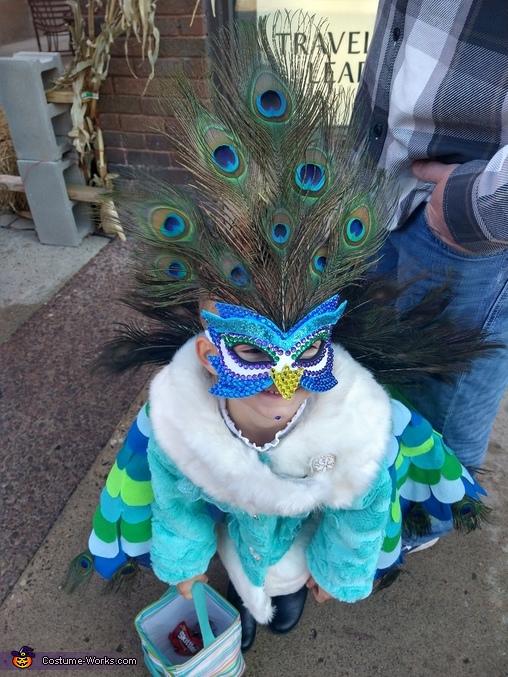 Mask view, Precious Peacock Costume