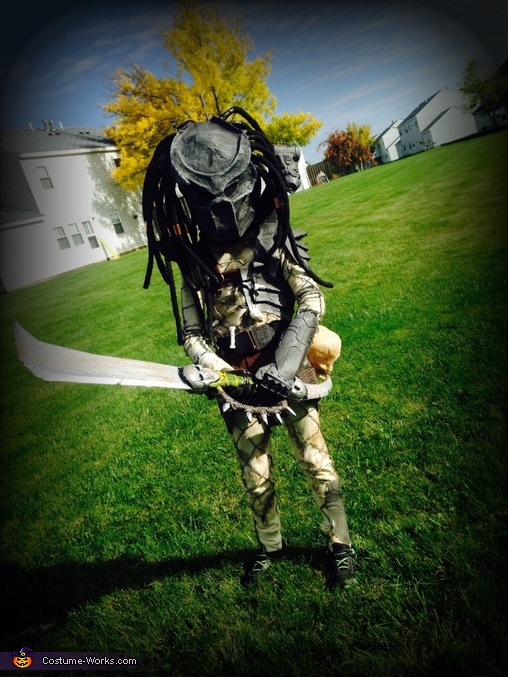 Homemade Predator Costume for Boys