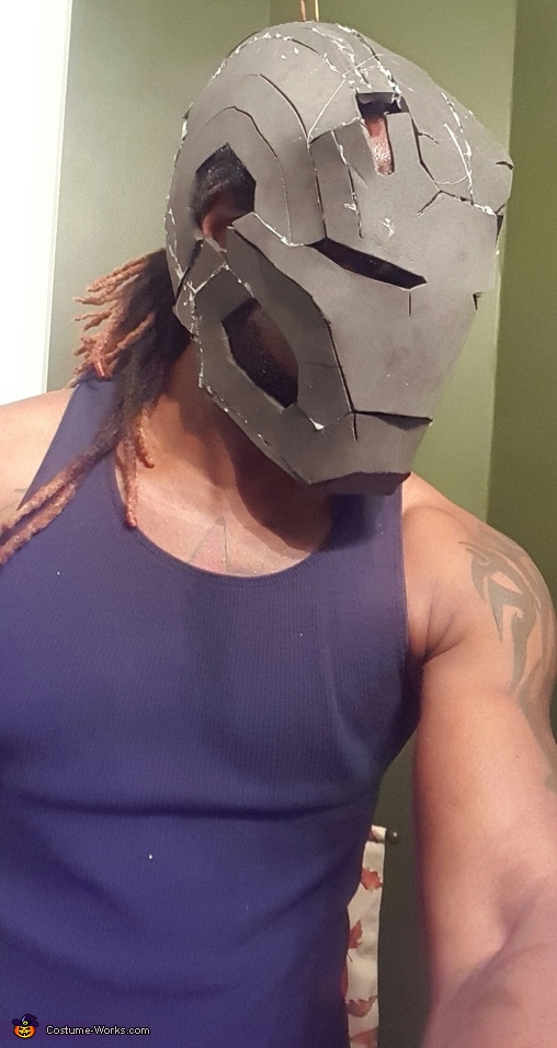 WAR MACHINE FOAM HELMET, Predator Costume