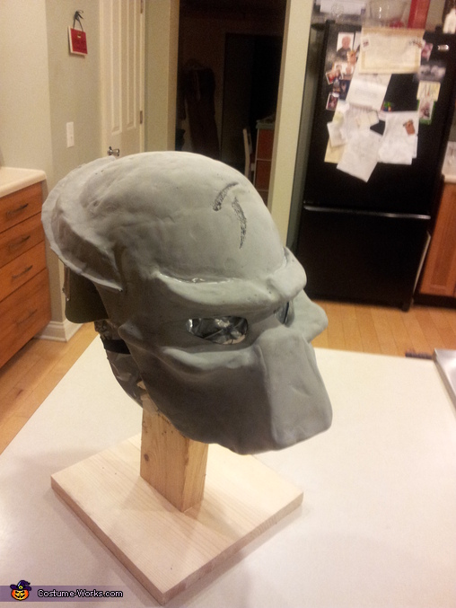 First helmet started, Predators Costume