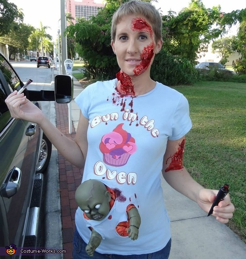 sc 1 st  Costume Works & Pregnant with a Zombie Baby Costume