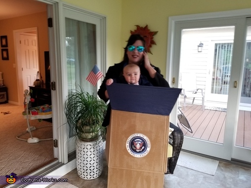 President with Secret Service Homemade Costume