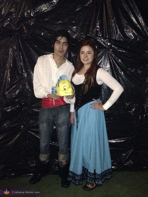 Prince Eric and Ariel Homemade Costume