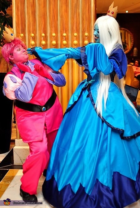 The Adventure Time Prince Gumball & Ice Queen Costume