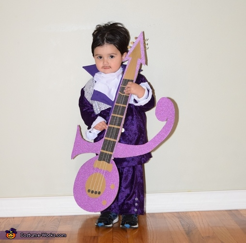 Little Prince with his guitar, Prince, Purple Rain & When Doves Cry Costume