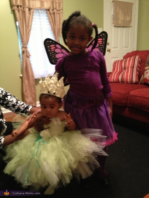 Excuse the butterfly it was my only standing up pic of the princess dress lol , Princess and the Frog Baby Costume