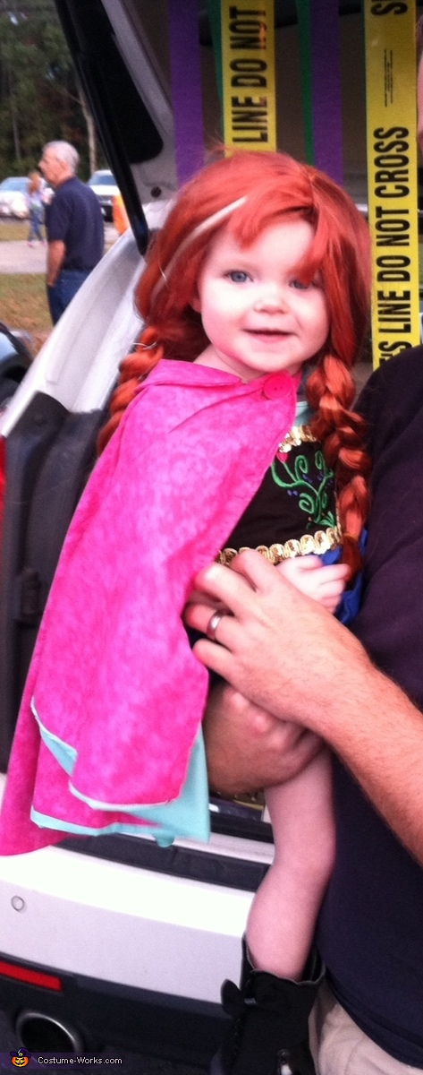 Princess Anna of Arendelle Baby Homemade Costume
