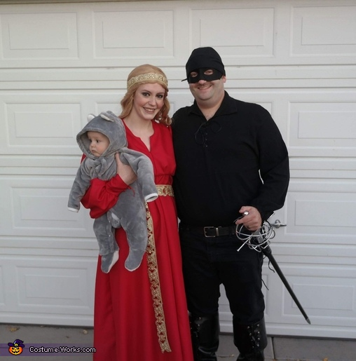 Me, Ryan, and my little rodent Kingsley, Princess Bride Costume