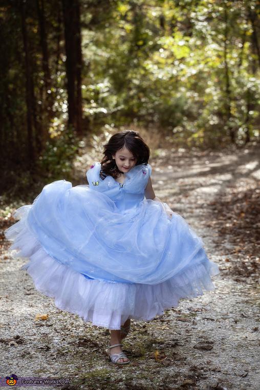 Running, Princess Cinderella Costume