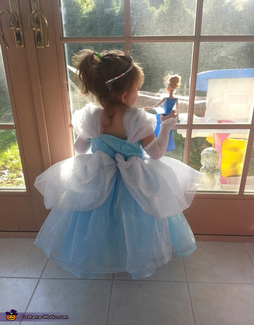 two Cinderella's looking out the window!, Princess Cinderella Costume