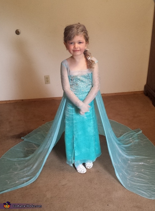 Princess Elsa Homemade Costume