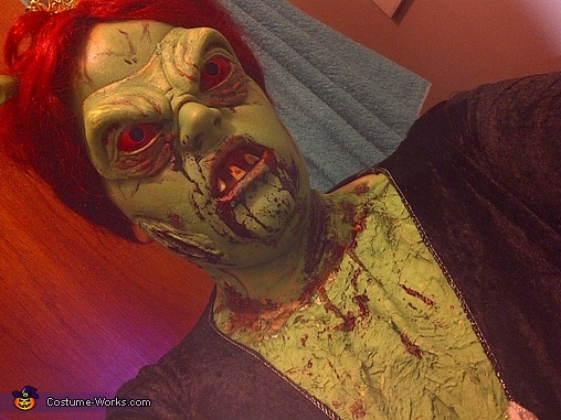 Close up , Princess Fiona Zombie Costume