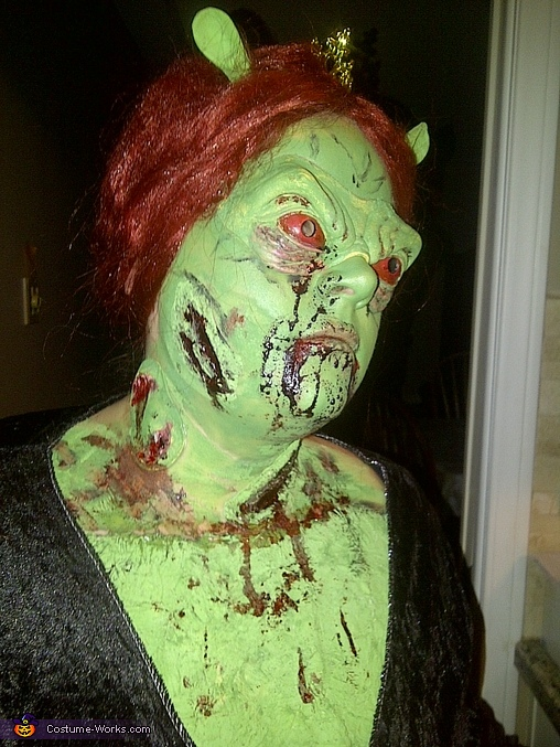 right, Princess Fiona Zombie Costume