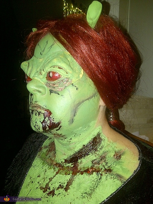 left, Princess Fiona Zombie Costume