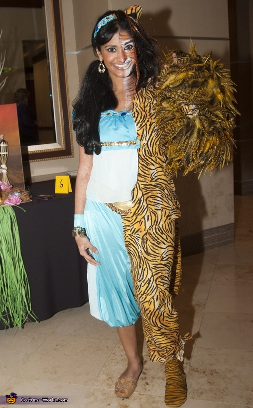 Princess Jasmin and Tiger Costume