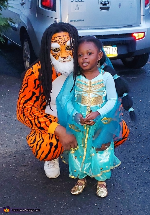 Princess Jasmine and her Tiger Rajah Costume