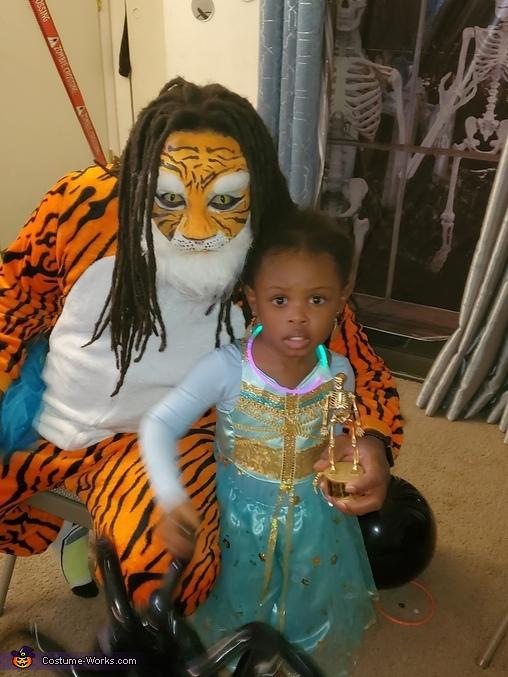 Princess Jasmine and her Tiger Rajah Homemade Costume