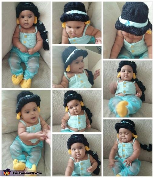 Princess Jasmine Baby Homemade Costume