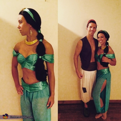Princess Jasmine & Aladdin Couple Homemade Costume