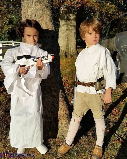 Image result for princess leia and luke skywalker costume