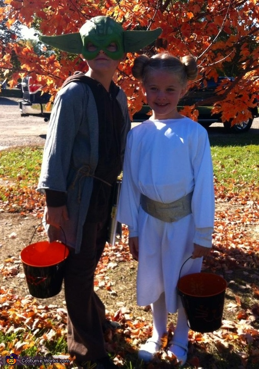 Princess Leia and Yoda Homemade Costume