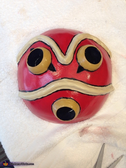 Painted mask, Princess Mononoke Costume