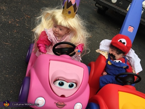 Princess Peach and Mario Costume