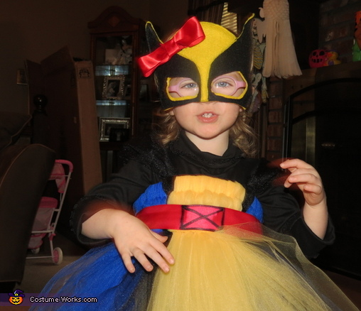 Close-up of mask, Princess Wolverine Costume