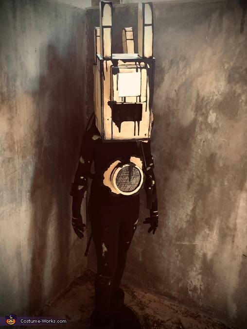 In the hallway, Projectionist from Bendy and the Ink Machine Costume