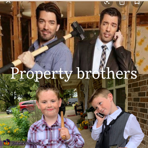Property Brothers Homemade Costume