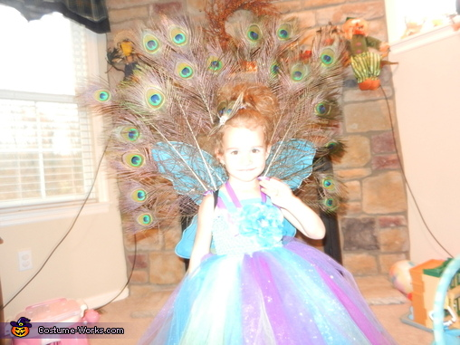 Homemade Peacock Costume for Girls
