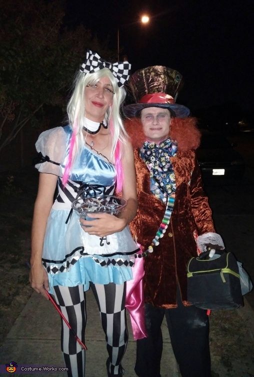 Psychedelic Alice & Mad Hatter Costume